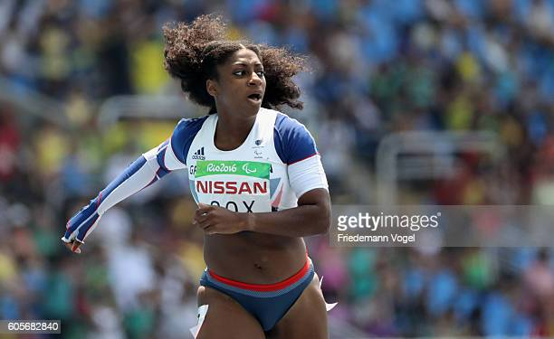 Kadeena Cox of Great Britain competes in the Women's 400m T38 final on day 7 of the Rio 2016 Paralympic Games at the Olympic Stadium on September 14...