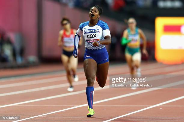 Kadeena Cox of Great Britain competes in the Womens 400m T38 final during day eight of the IPC World ParaAthletics Championships 2017 at London...