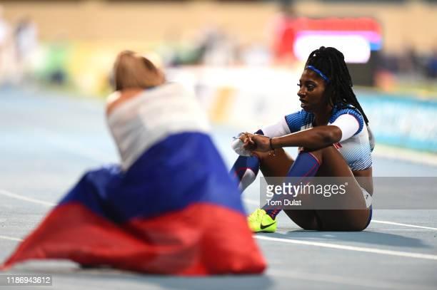Kadeena Cox of Great Britain during the Women's 400m T38 Final race on Day Five of the IPC World Para Athletics Championships 2019 Dubai on November...