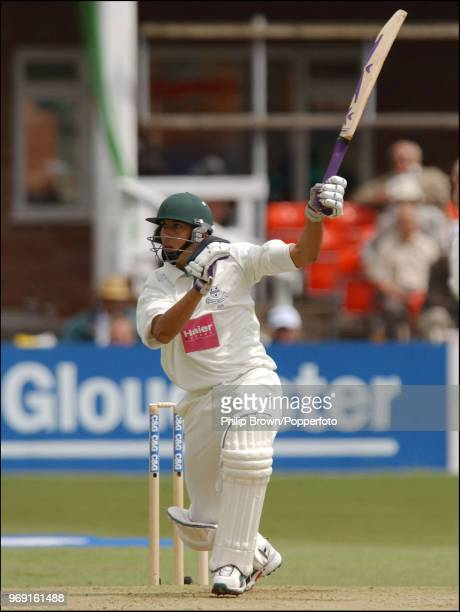 Kadeer Ali of Worcestershire hits a boundary during his innings of 30 runs in the CG Trophy Quarter Final between Leicestershire and Worcestershire...