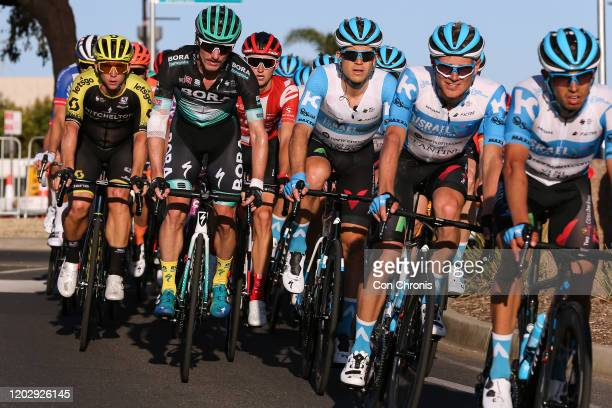 Kaden Groves of Australia and Team Mitchelton-SCOTT / Jay Mccarthy of Australia and Team BORA-Hansgrohe / Guillaume Boivin of Canada and Team Israel...