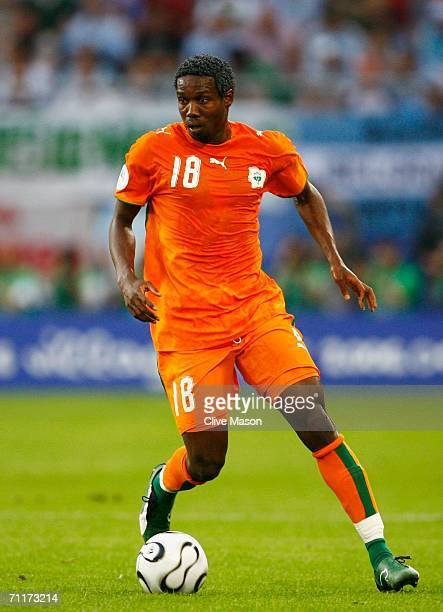 Kader Keita of Ivory Coast in action during the FIFA World Cup Germany 2006 Group C match between Argentina and Ivory Coast played at the Stadium...