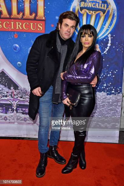 Kader Loth and her husband Ismet Atli attend the 15th Roncalli christmas circus premiere at Tempodrom on December 22 2018 in Berlin Germany