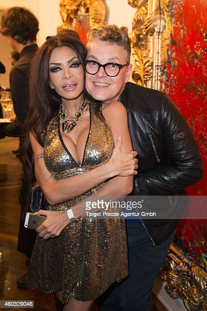 Kader Loth and Rolf Scheider attends the Gloeoeckler Magazine Launch on December 11 2014 in Berlin Germany