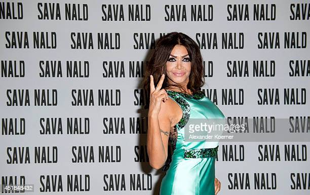 Kader Loth arrives prior the runway at Sava Nald show during the MercedesBenz Fashion Week Spring/Summer 2015 at Hotel Adlon on July 8 2014 in Berlin...