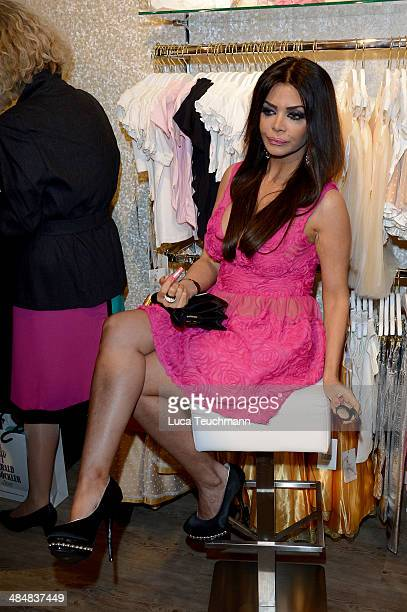Kader Loth attends the Harald Gloeoeckler Store Opening on April 14 2014 in Berlin Germany