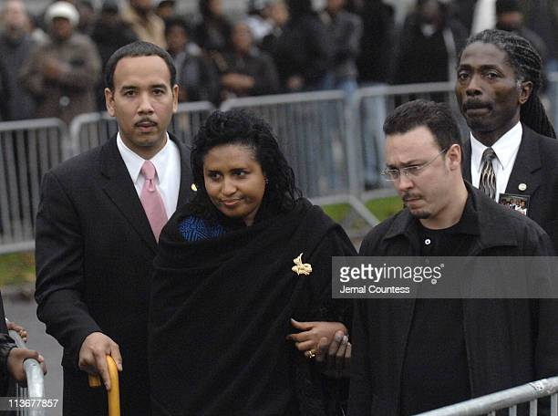 Kadiatou Diallo mother of Amadou Diallo who was also killed by police fire outside the funeral for Sean Bell at the Community Church of Christ in New...