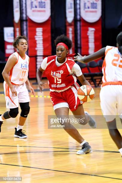 Kadidia Toure of the MidAtlantic Girls handles the ball against the South Girls during the Jr NBA World Championship on August 8 2018 at ESPN Wide...