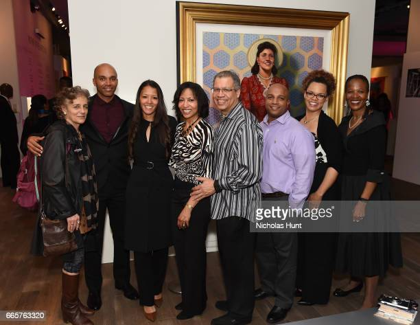 Kadir Nelson and Family attends HBO's The HeLa Project Exhibit For The Immortal Life of Henrietta Lacks on April 6 2017 in New York City