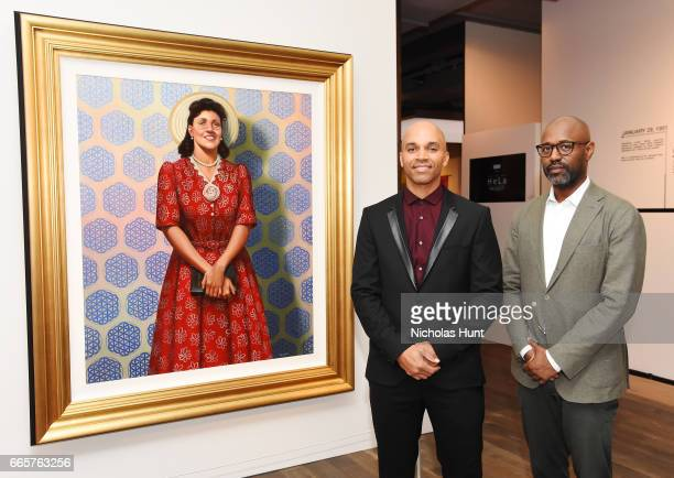 Kadir Nelson and Lewis Long attend HBO's The HeLa Project Exhibit For The Immortal Life of Henrietta Lacks on April 6 2017 in New York City