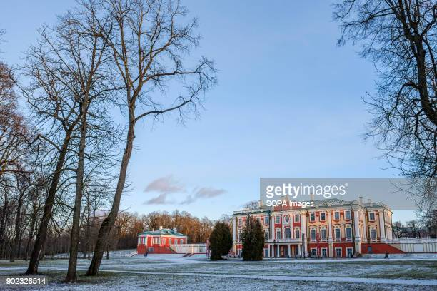 Kadriorg Palace in wintertime. The Kadriorg palace is located in the city of Tallinn and it was built for Catherine I of the great Russian empire by...