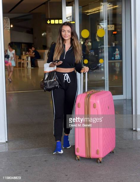 Kady Mcdermott arrives at Malaga airport ahead of boohoo boohooMAN event on July 27 2019 in Marbella Spain