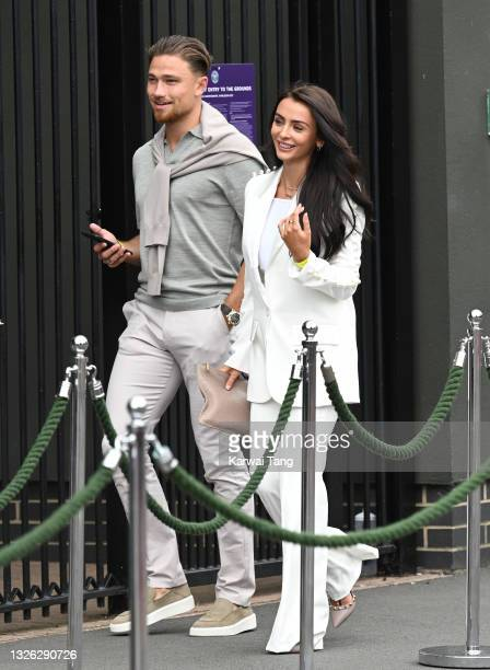 Kady McDermott attends day 3 of the Wimbledon Championships at All England Lawn Tennis and Croquet Club on June 30, 2021 in London, England.