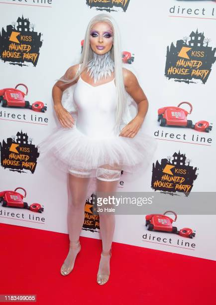 Kady McDermott attends the KISS Haunted House Party 2019 at The SSE Arena Wembley on October 25 2019 in London England