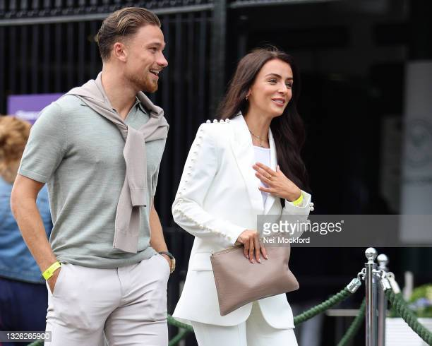 Kady McDermott attends Wimbledon Championships Tennis Tournament - Day 3 at All England Lawn Tennis and Croquet Club on June 30, 2021 in London,...