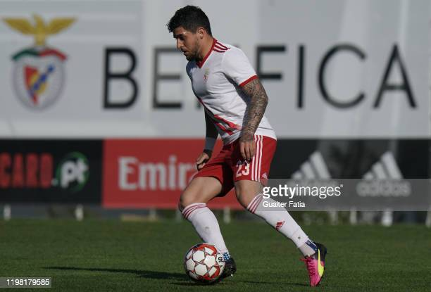Kady of UD Vilafranquense controls the ball during the Liga Pro match between SL Benfica B and UD Vilafranquense at Benfica Campus on February 2 2020...