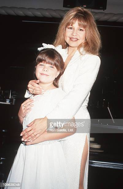 Kady Riklis and Pia Zadora during Dress Rehearsal for The New Pia Zadora Show July 19 1993 at The Supper Club in New York City New York United States