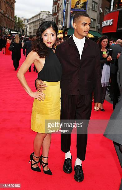 Kae Alexander and Layton Williams attend the World Premiere of The Bad Education Movie at Vue West End on August 20 2015 in London England