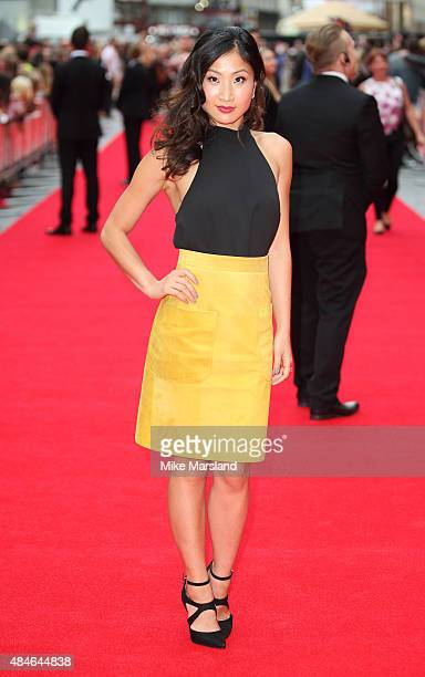 Kae Alexander attends the World Premiere of The Bad Education Movie at Vue West End on August 20 2015 in London England