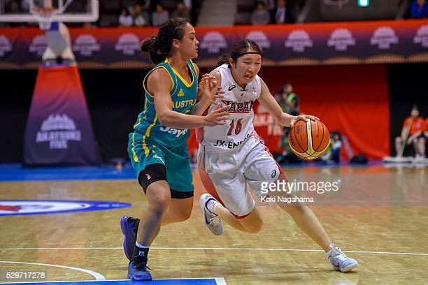Kaede Kondo of Japan in action during the Women's Basketball International Friendly match between Japan and Australia at Yoyogi National Gymnasium on...