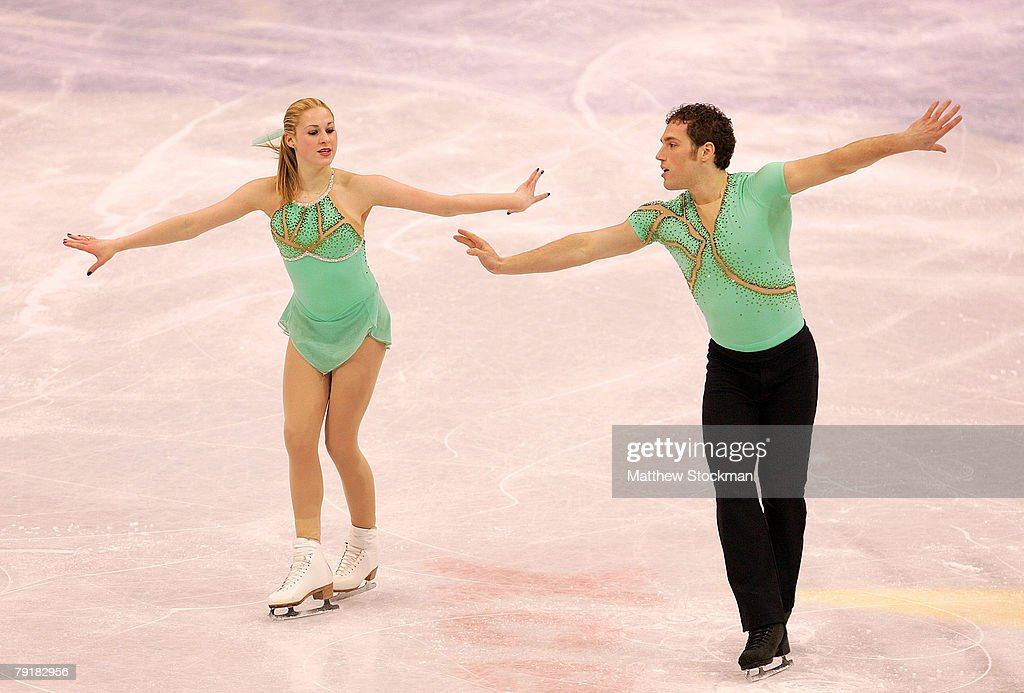 Kaela Pflumm and Christopher Pettenger compete in the pairs short program during the US Figure Skating Championships January 23, 2008 at the Xcel Energy Center in St Paul, Minnesota.