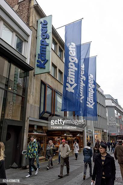 Kaempgen shoestore in Hohe Strasse a main shopping street in Cologne Germany 09 November 2014 Hohe Strasse starts at the foot of the cathedral and...