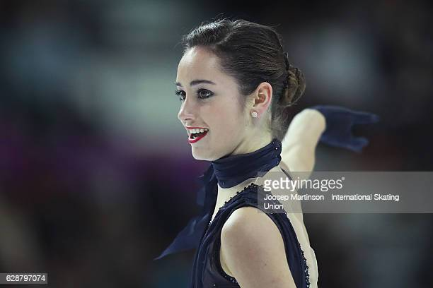 Kaetlyn Osmond of Canada competes during Senior Ladies Short Program on day two of the ISU Junior and Senior Grand Prix of Figure Skating Final at...