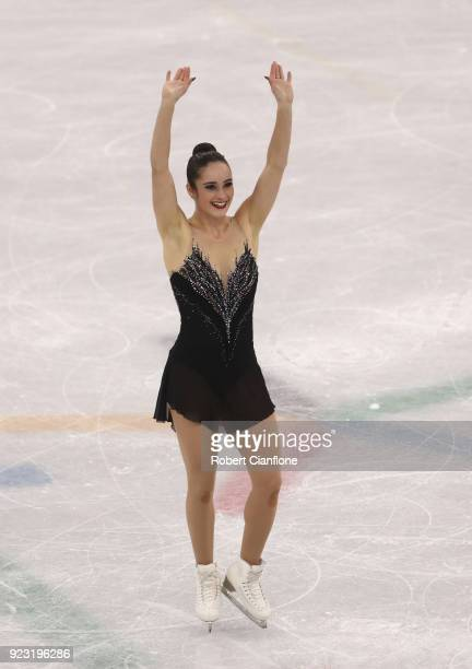 Kaetlyn Osmond of Canada competes during the Ladies Single Skating Free Program on day fourteen of the PyeongChang 2018 Winter Olympic Games at...