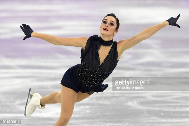 Kaetlyn Osmond of Canada competes in the Figure Skating Ladies' Single Short Program on day twelve of the PyeongChang 2018 Winter Olympic Games at...