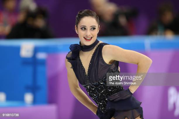 Kaetlyn Osmond of Canada competes in the Figure Skating Team Event Ladies Single Short Program on day two of the PyeongChang 2018 Winter Olympic...