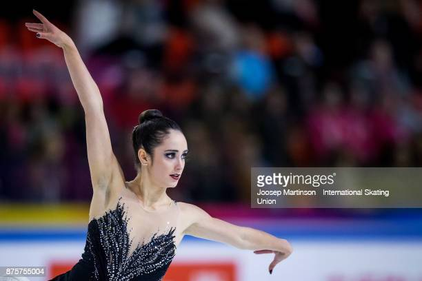 Kaetlyn Osmond of Canada competes in the Ladies Free Skating during day two of the ISU Grand Prix of Figure Skating at Polesud Ice Skating Rink on...