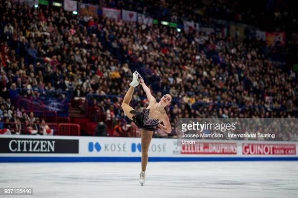 Kaetlyn Osmond of Canada competes in the Ladies Free Skating during day three of the World Figure Skating Championships at Mediolanum Forum on March...