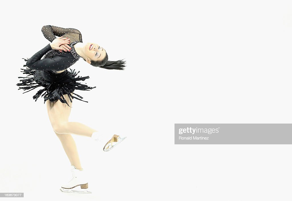 Kaetlyn Osmond of Canada competes in the Ladies Short Program during the 2013 ISU World Figure Skating Championships at Budweiser Gardens on March 14, 2013 in London, Canada.