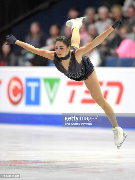 Kaetlyn Osmond of Canada competes in the Ladies' Singles Short Program during day one of the ISU Grand Prix of Figure Skating at Brandt Centre on...