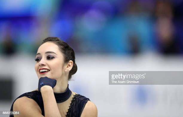 Kaetlyn Osmond of Canada competes in the Ladies Singles Short Program during day two of the ISU Junior Senior Grand Prix of Figure Skating Final at...