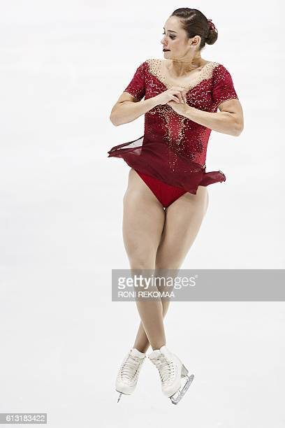Kaetlyn Osmond of Canada performs her routine in the Ladies' free skating during the figure skating Finlandia Trophy competition in Espoo, Finland,...