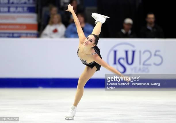 Kaetlyn Osmond of Canada performs in ladies free skating during the ISU Grand Prix of Figure Skating at Brandt Centre on October 28 2017 in Regina...
