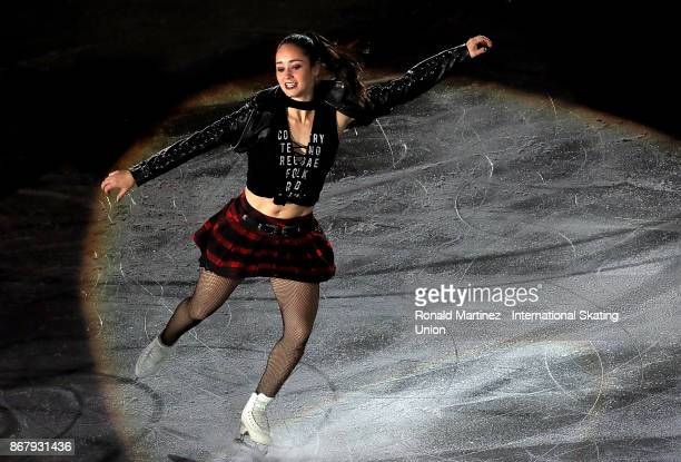 Kaetlyn Osmond of Canada performs in the exhibition gala during the ISU Grand Prix of Figure Skating at Brandt Centre on October 29 2017 in Regina...