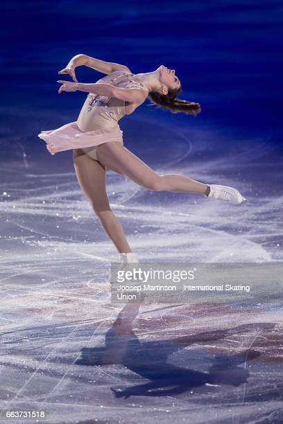 Kaetlyn Osmond of Canada performs in the gala exhibition during day five of the World Figure Skating Championships at Hartwall Arena on April 2 2017...