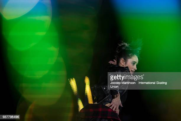 Kaetlyn Osmond of Canada performs in the Gala Exhibition during day five of the World Figure Skating Championships at Mediolanum Forum on March 25...