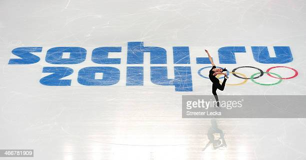 Kaetlyn Osmond of Canada practices during a figure skating training session ahead of the Sochi 2014 Winter Olympics at the Iceberg Skating Palace on...