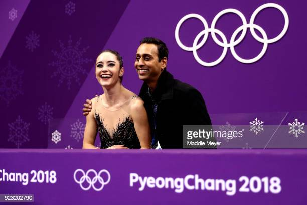 Kaetlyn Osmond of Canada reacts after competing during the Ladies Single Skating Free Skating on day fourteen of the PyeongChang 2018 Winter Olympic...