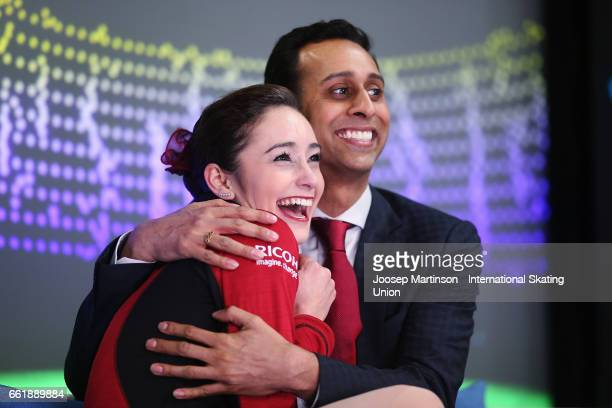 Kaetlyn Osmond of Canada reacts at the kiss and cry in the Ladies Free Skating during day three of the World Figure Skating Championships at Hartwall...