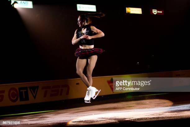 Kaetlyn Osmond of Canada skates her exhibition program at the ISU Grand Prix of Figure Skating's Skate Canada International at Brandt Centre in...