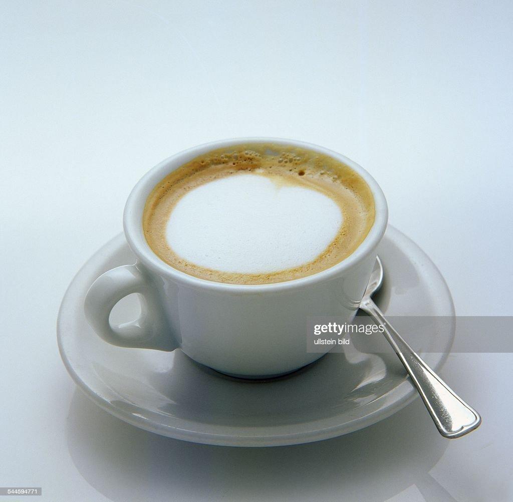 Kaffee trinken, Tasse Kaffee / Espresso macchiato / Cappuccino ...