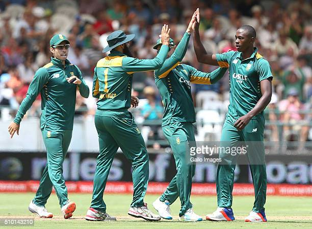 Kagiso Rabada during the 5th Momentum ODI Series match between South Africa and England at PPC Newlands on February 14 2016 in Cape Town South Africa