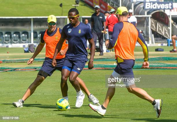 Kagiso Rabada during the South Africa training session at Bidvest Wanderers Stadium on March 29 2018 in Johannesburg South Africa