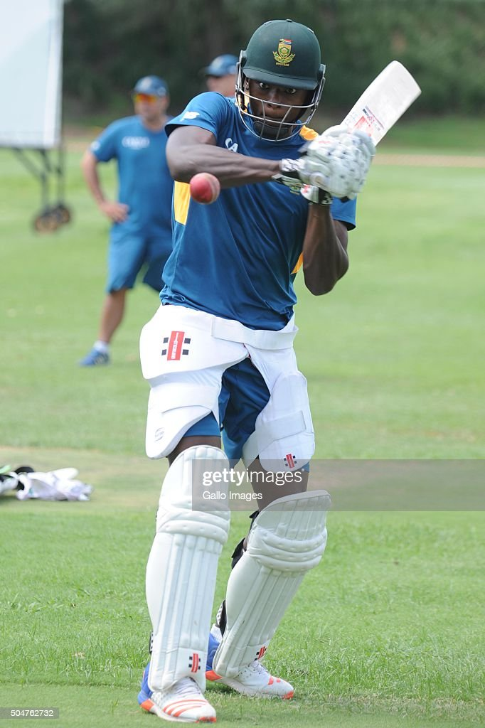 Kagiso Rabada during the South African national cricket team training session and captain' press conference at Bidvest Wanderers Stadium on January 13, 2016 in Johannesburg, South Africa.