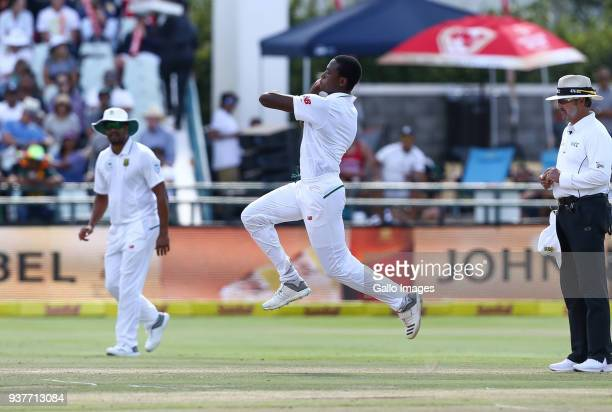 Kagiso Rabada of South Africa during day 4 of the 3rd Sunfoil Test match between South Africa and Australia at PPC Newlands on March 25 2018 in Cape...
