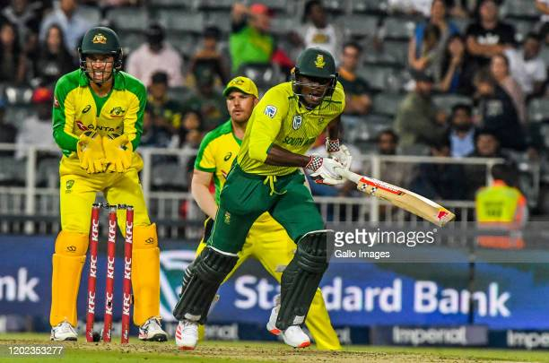 Kagiso Rabada of South Africa during the 1st KFC T20 International match between South Africa and Australia at Imperial Wanderers Stadium on February...
